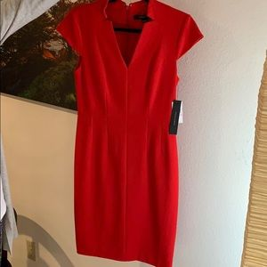 Cynthia Steffe beautiful red work dress